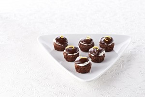 lemon-kissed brownie bites