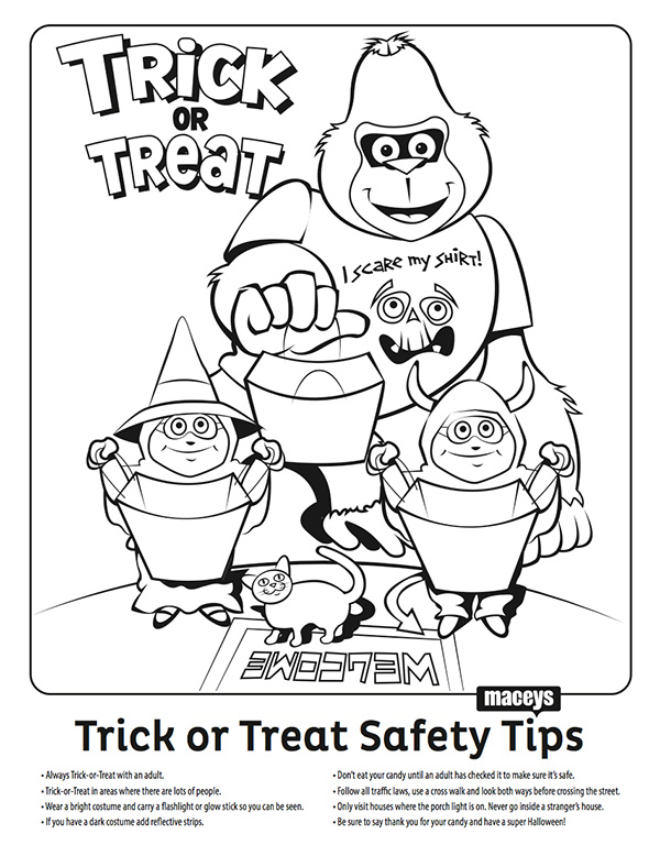 coloring pages halloween safety videos - photo#8
