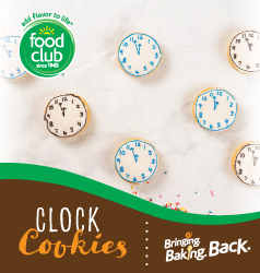 Bringing Baking Back Food Club Clock Cookies