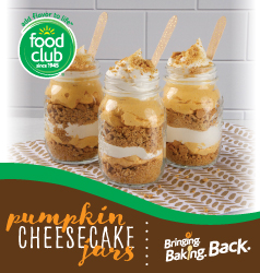 Bringing Baking Back Food Club Pumpkin Cheesecake Jars