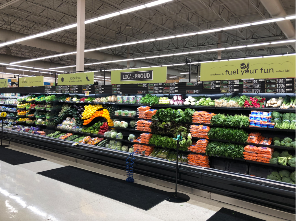 Macey's produce has a wide assortment of fruits and veggies.