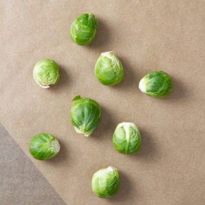 Brussels sprouts on table