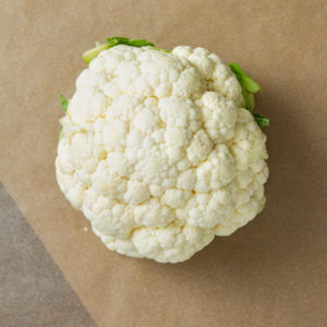 cauliflower on table