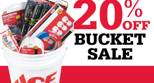 Don't miss Ace Hardware's 20% off bucket sale.