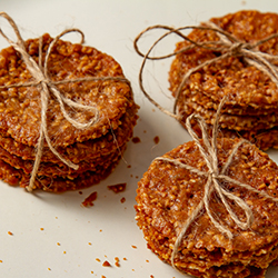 Sesame Seed Benne Wafers tied in Twine