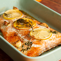 Winter Citrus Butter Salmon with Garlic and Thyme