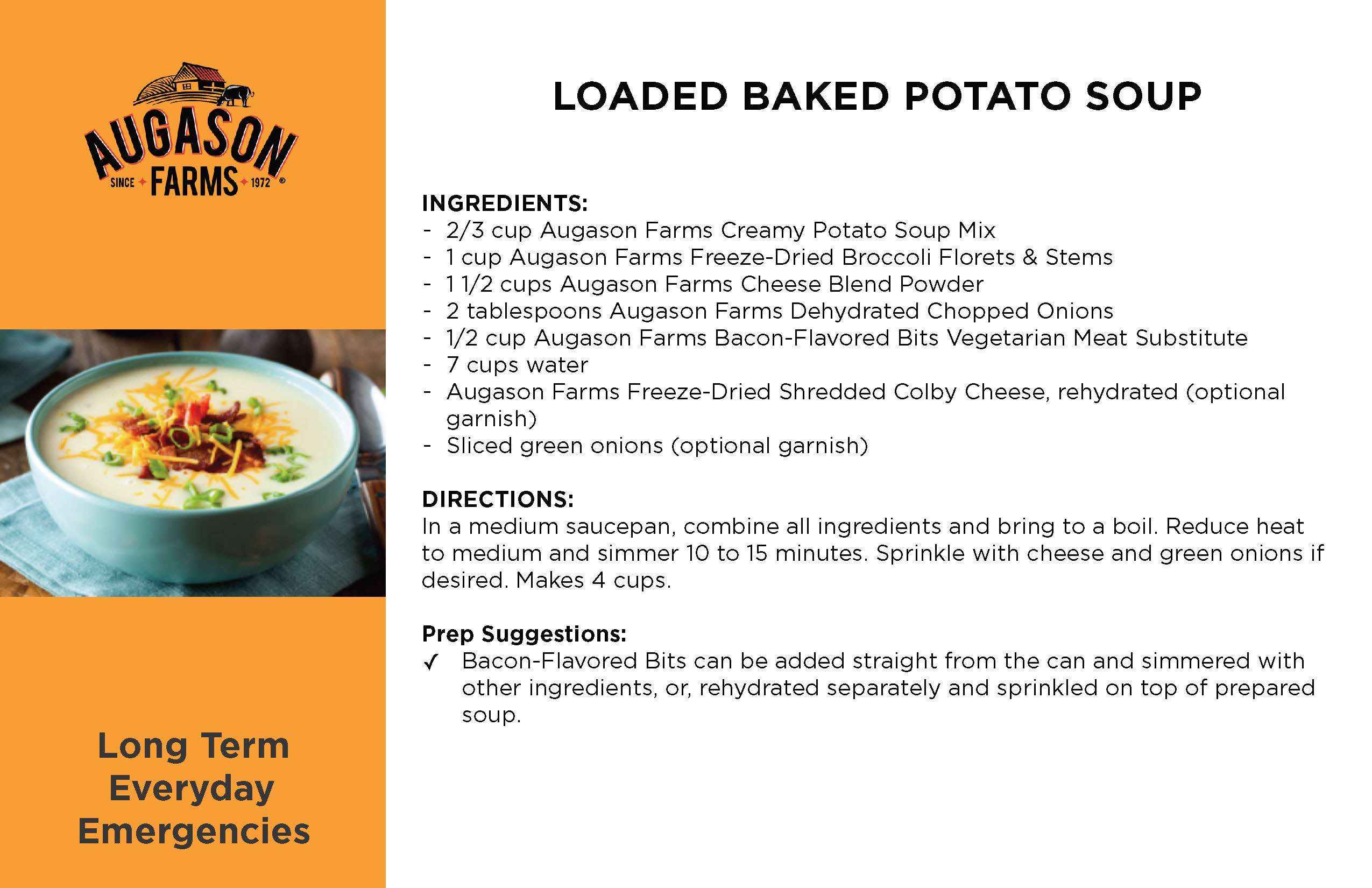 Loaded Baked Potato Soup Recipe Card