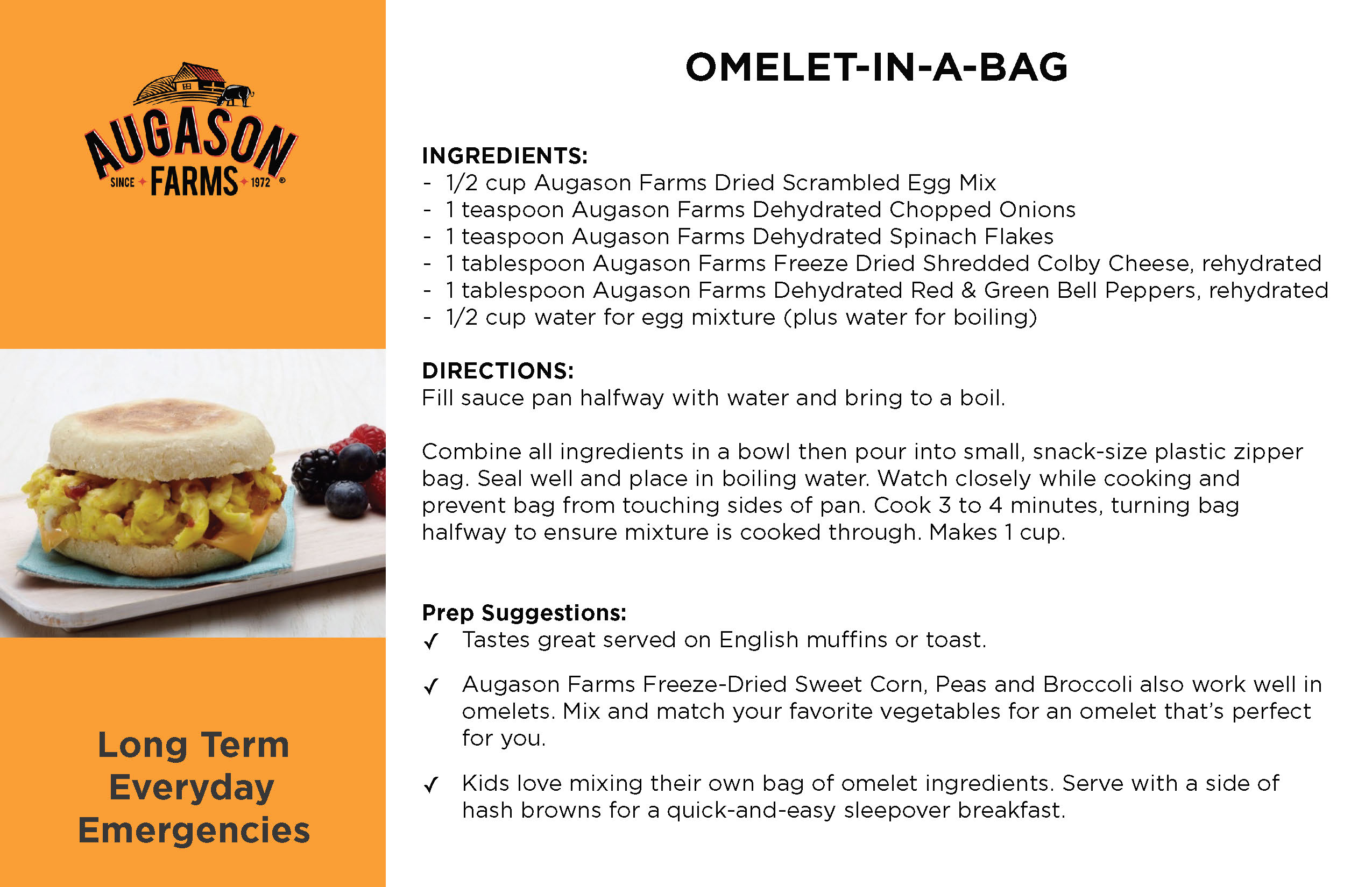 Omelette-in-a-Bag Recipe