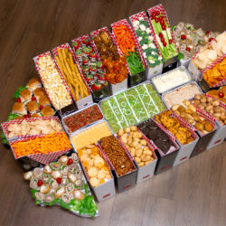 Stadium built out of Snacks