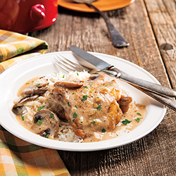 Chicken Marsala over Rice