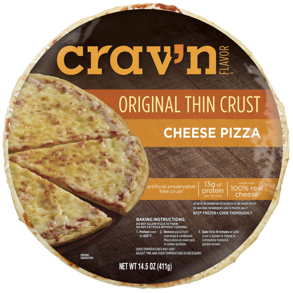 Original Thin Crust Cheese Pizza Packaging