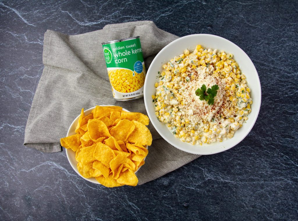 corn dip with chips and food club canned corn