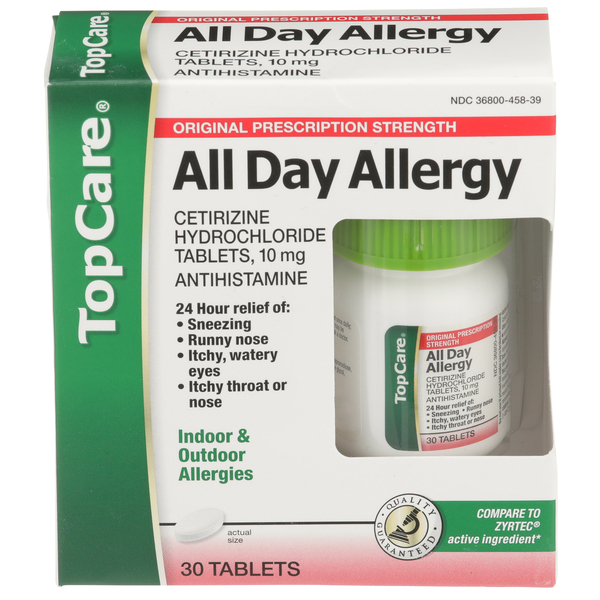 Top Care All Day Allergy Pill Box