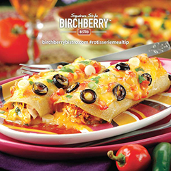 chicken enchilada casserole from birchberry bistro