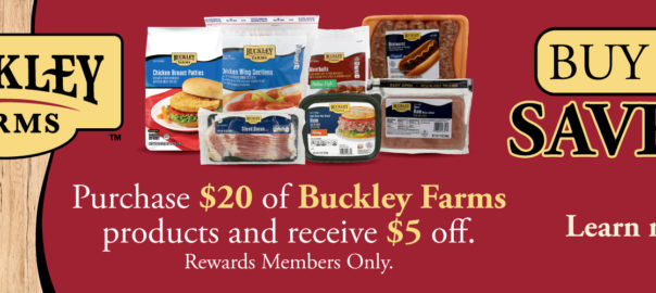 Buckley Farms June Offer Spend $20 Save $5
