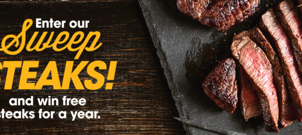 enter to win free steak for a year