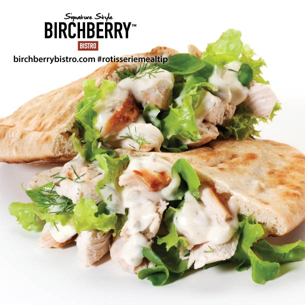 chicken ranch pitas from birchberry bistro