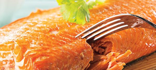 Cedar wood grilled salmon with corn salsa