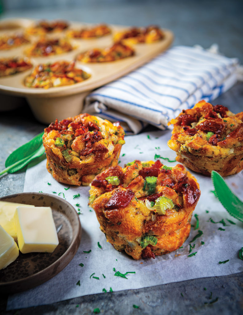 bacon-sage stuffing muffins