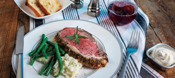 Rosemary Garlic Prime Rib Roast Horradish Cream