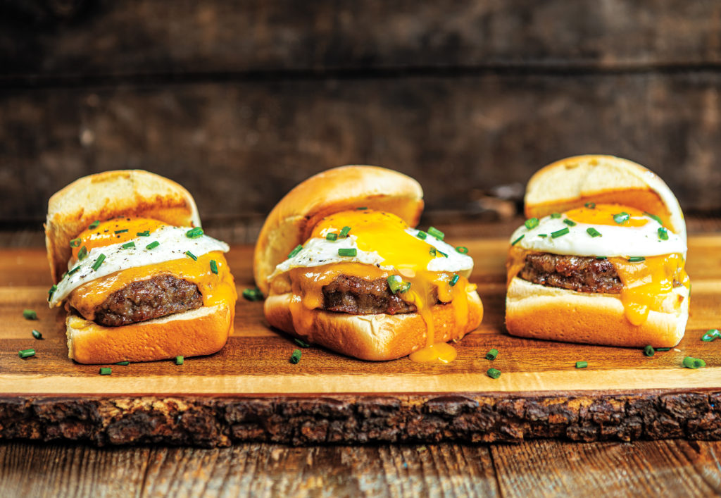 sausage, egg, and cheese breakfast sliders