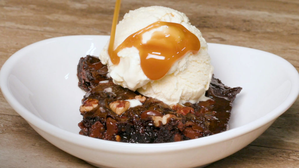 maple caramel bacon brownie