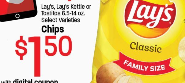 Digital Coupon Lay's, Lay's Kettle, or Tostitos Chips