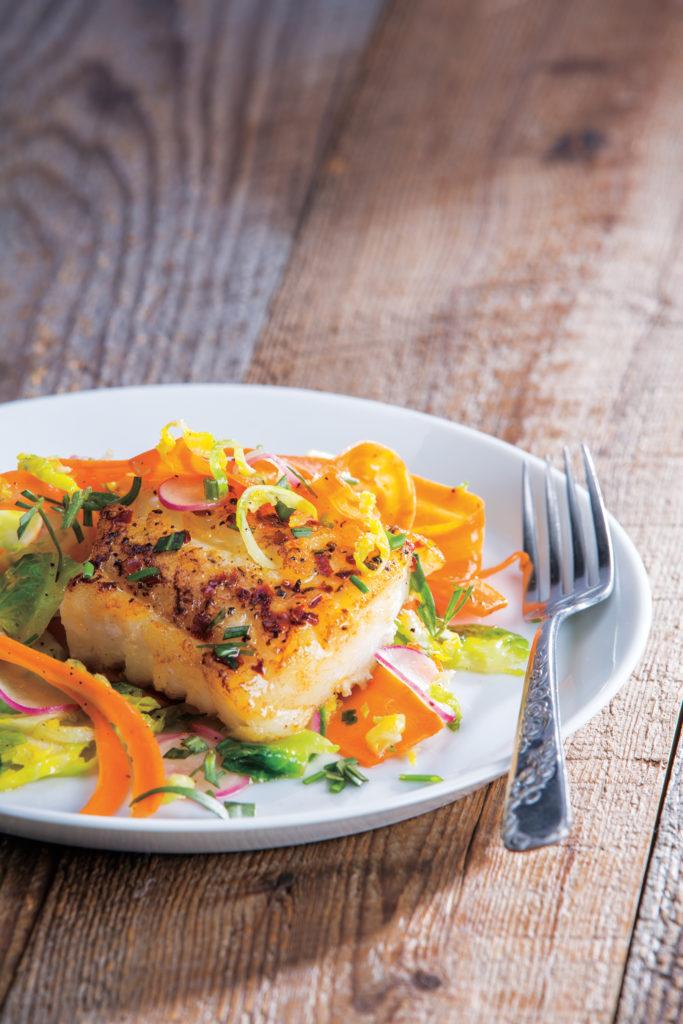 Pan-Seared Cod on plate