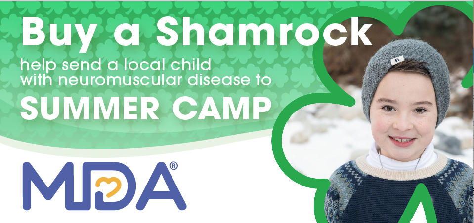Buy a Shamrock help send a local child with neuromuscular disease to summer camp.