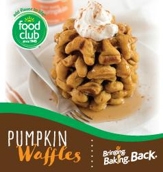 Bringing Baking Back Food Club Pumpkin Spice Waffles