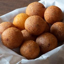 Deep fried turkey and potato balls
