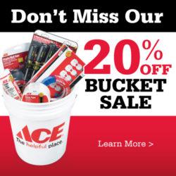 20% bucket sale