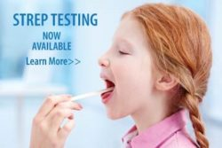 We now offer rapid STREP TESTING