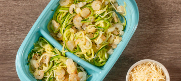 Zoodle Shrimp Scampi in container