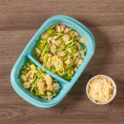 Shrimp Scampi Zoodles Meal Prep