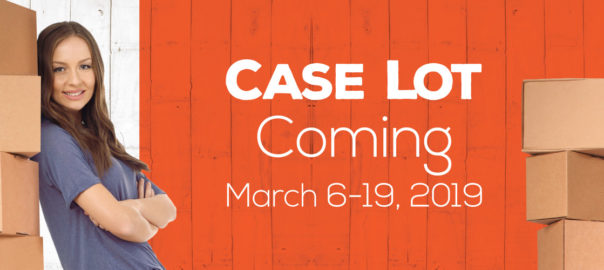 Case Lot is Coming