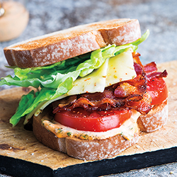 bacon lettuce and tomato sandwich