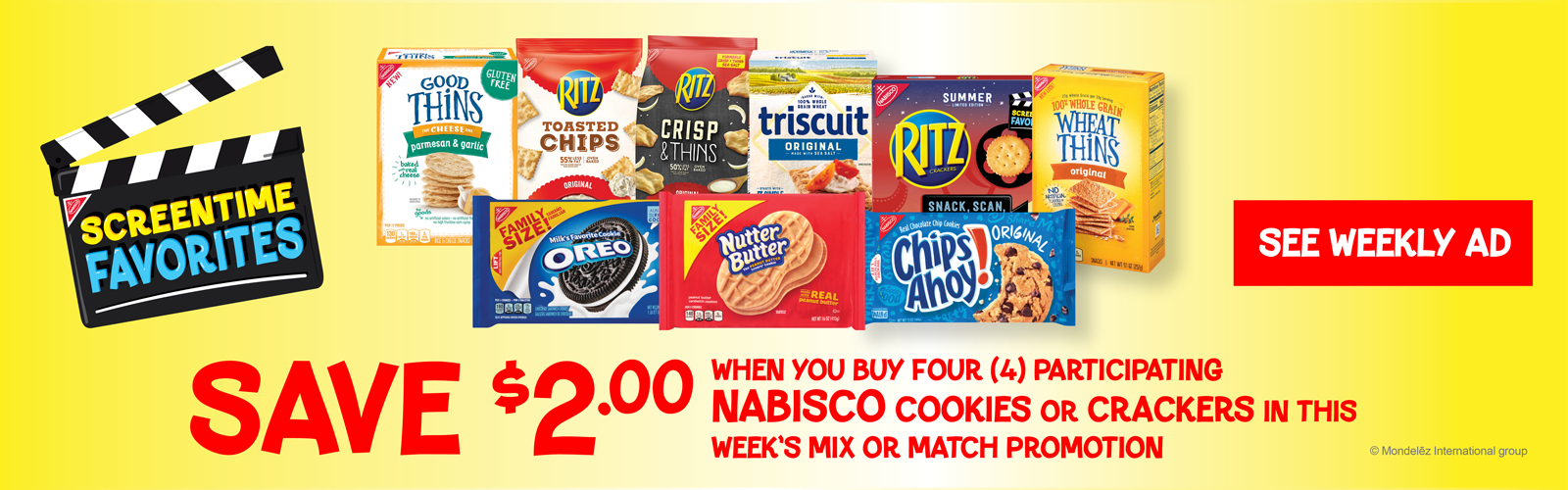 Nabisco Family Size Snacks