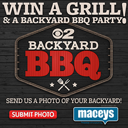 Win a Grill and a backyard bbq party promotion