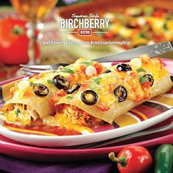 chicken enchilada casserole from birchberry bistro