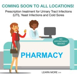 Coming Soon- Prescription UTI, yeast infection and cold sore treatment