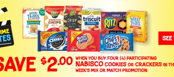 save $2.00 on nabisco crackers and cookies when you buy four