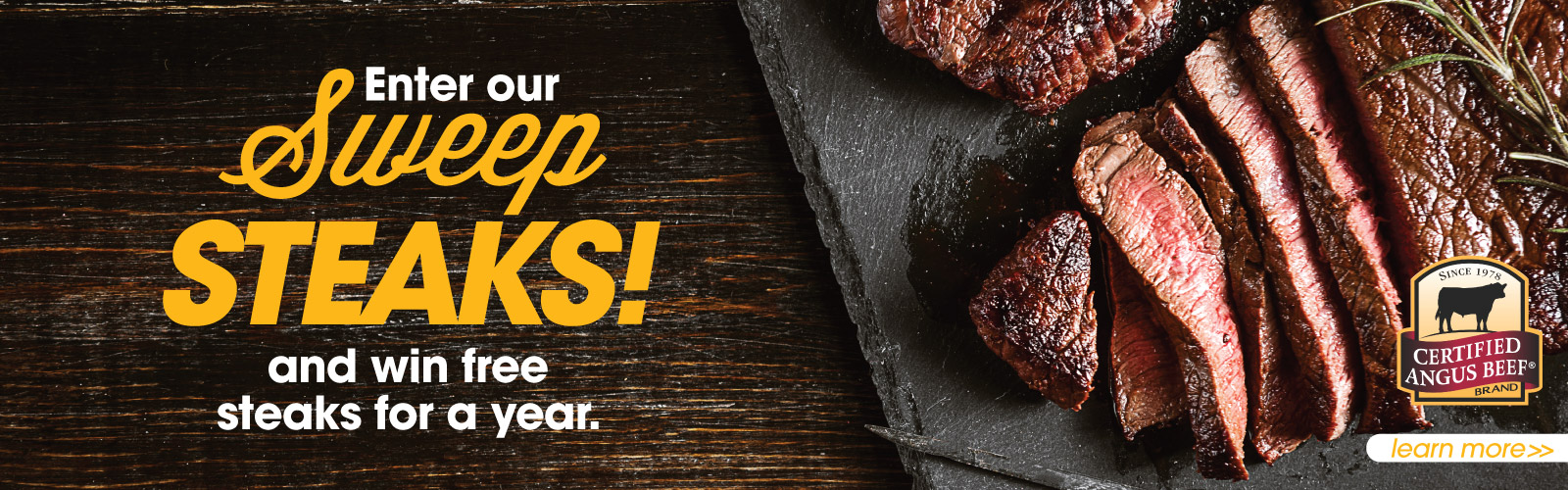 Win Free Steak for a Year!