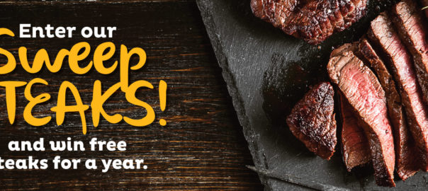 sweepsteaks win free steak for a year