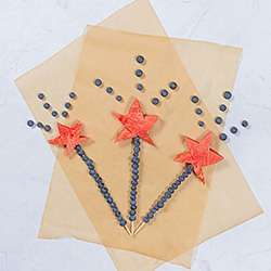 watermelon and blueberry star shaped skewers
