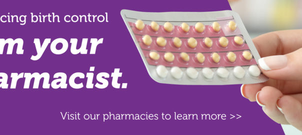 Birth control pills being held in hand