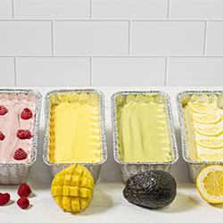 Variety of no-churn ice cream