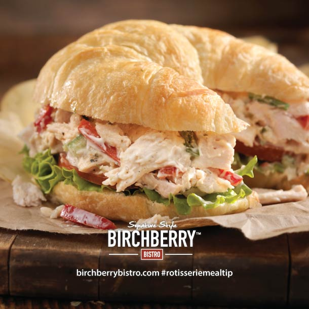 Birchberry Bistro Chicken Pesto Croissant