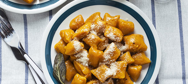 Pumpkin gnocchi with browned butter