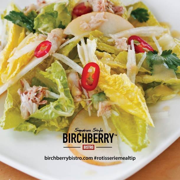 Birchberry Bistro Chicken Pear and Pecan Salad